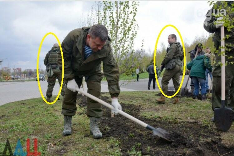 Захарченко посадил березку в Донецке в окружении вооруженной охраны (ФОТО), фото-1