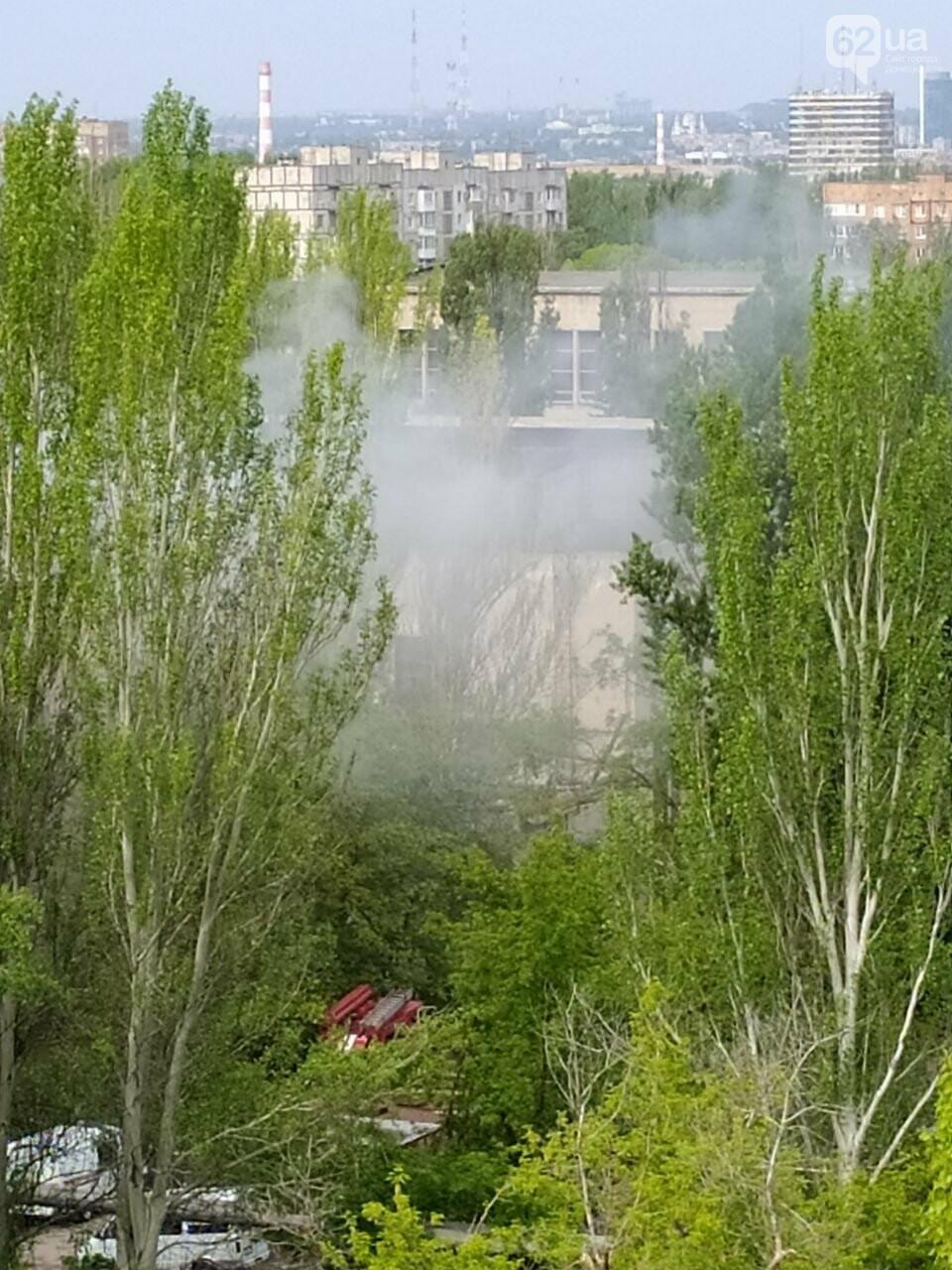 В Донецке горел цех научно-исследовательского института, - ФОТО , фото-1