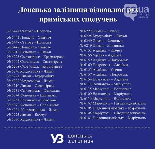 На Донбассе запускают движение 38 пригородных поездов, - перечень направлений, фото-1
