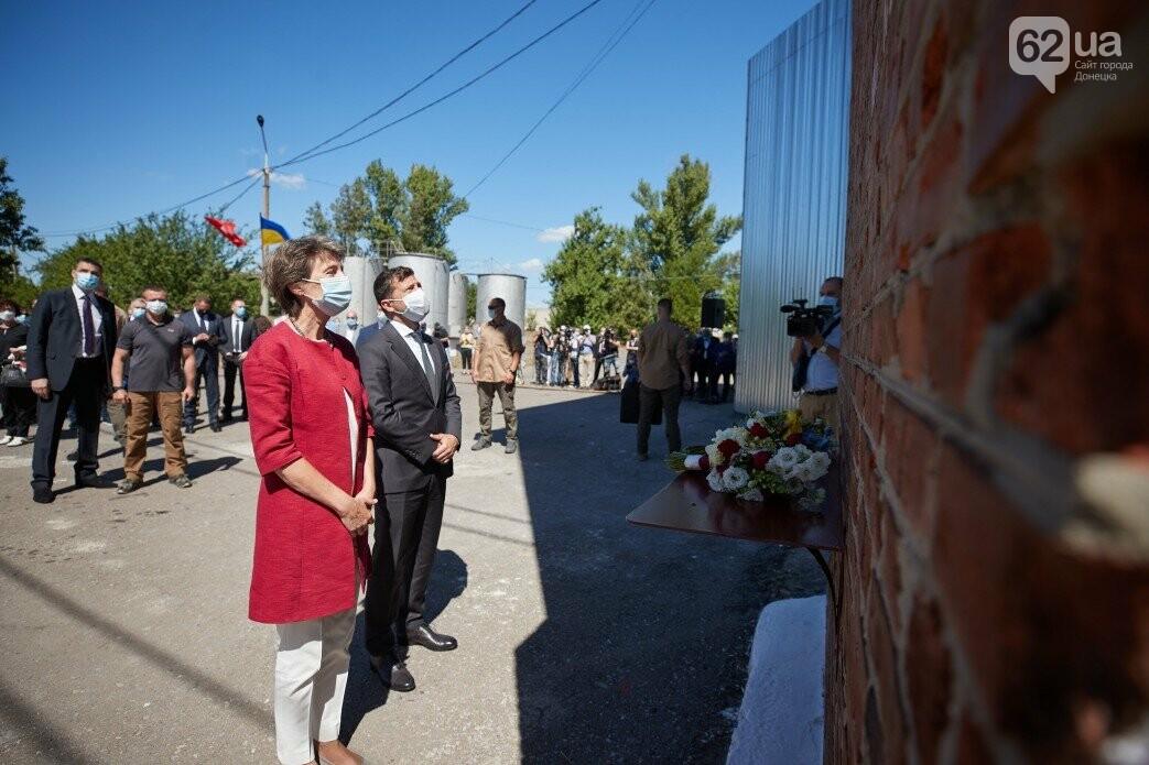 Как проходит визит президентов Украины и Швейцарии в Донецкую и Луганскую области, - ФОТО, фото-3