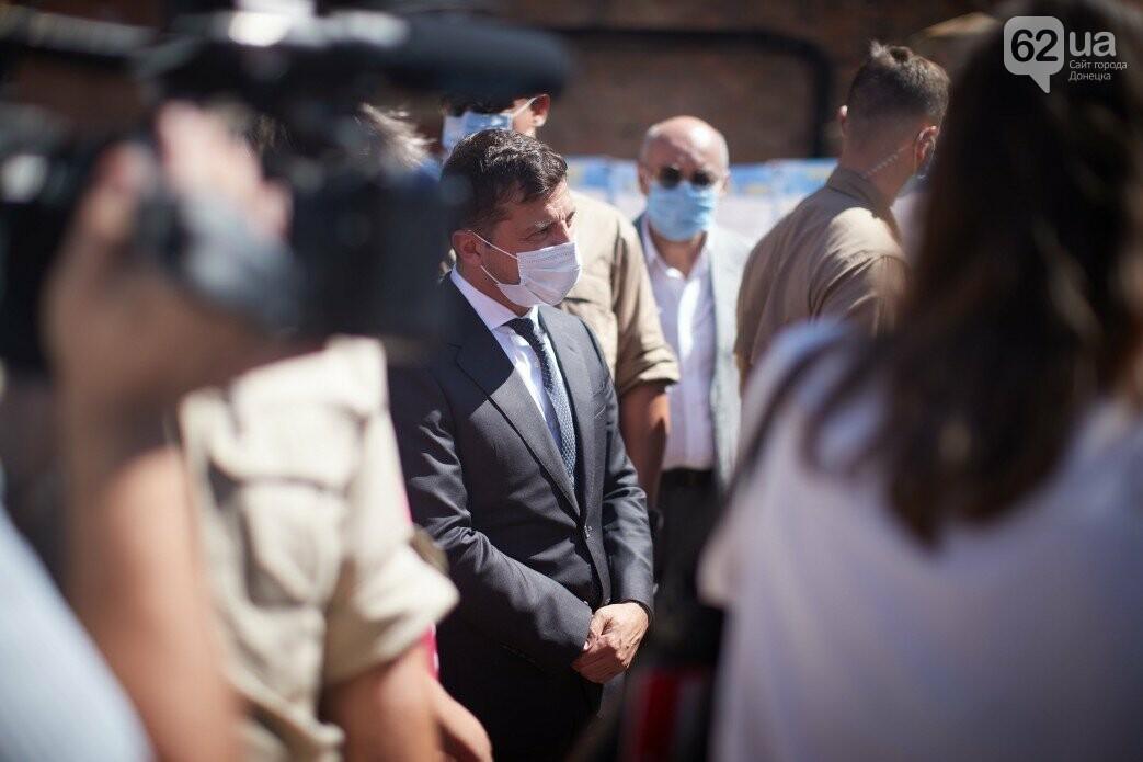 Как проходит визит президентов Украины и Швейцарии в Донецкую и Луганскую области, - ФОТО, фото-4