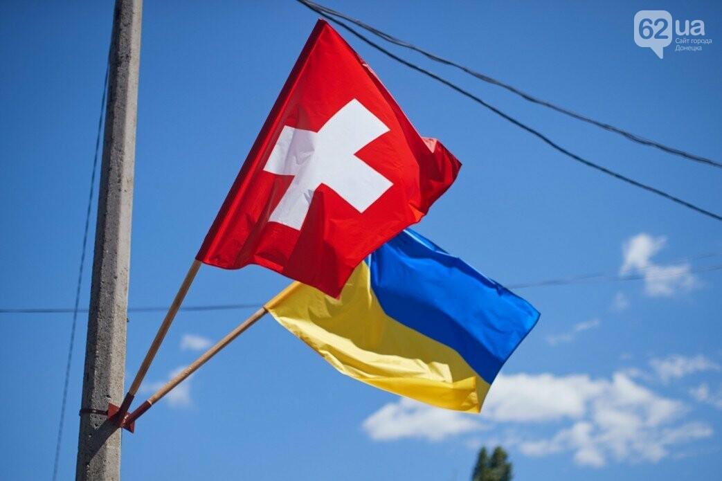 Как проходит визит президентов Украины и Швейцарии в Донецкую и Луганскую области, - ФОТО, фото-8