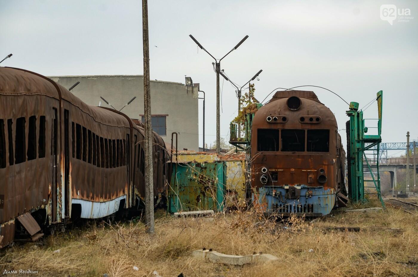 Кладбище поездов в «ДНР», - ФОТО, фото-4