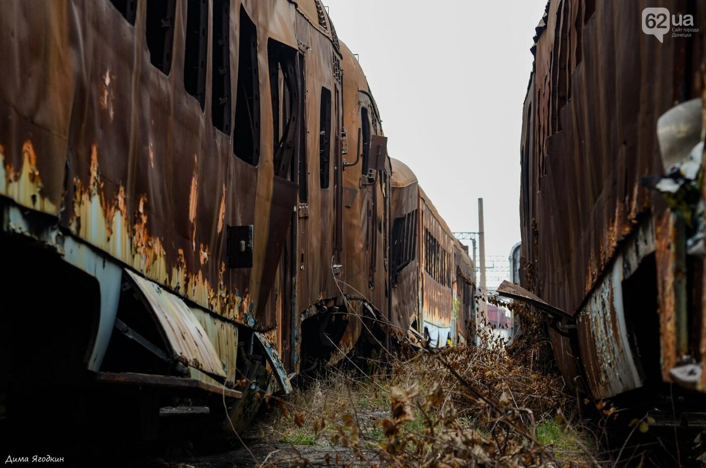 Кладбище поездов в «ДНР», - ФОТО, фото-1