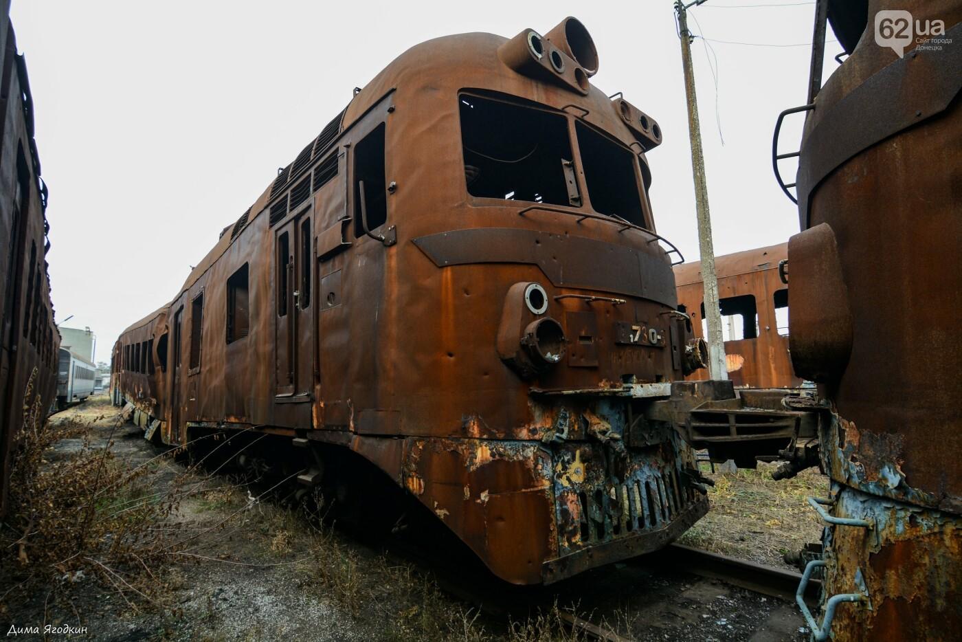 Кладбище поездов в «ДНР», - ФОТО, фото-5