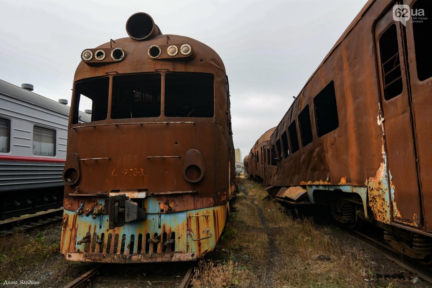 Кладбище поездов в «ДНР», - ФОТО, фото-7