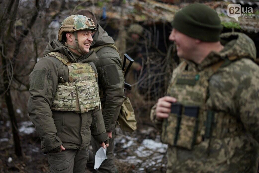 Зеленский посетил передовую ВСУ на Донбассе, - ФОТО, фото-4