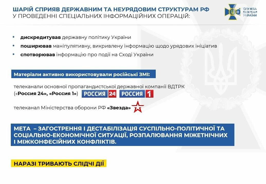 СБУ объявила о подозрении в госизмене известному пророссийскому пропагандисту Шарию, фото-2