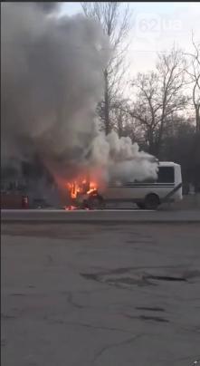 В ОРДО между Донецком и Макеевкой горел автобус, - ФОТО, фото-1