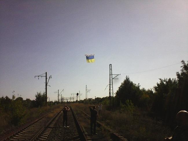 Огромный флаг Украины в небе над оккупированным Донецком (ФОТО, ВИДЕО), фото-3