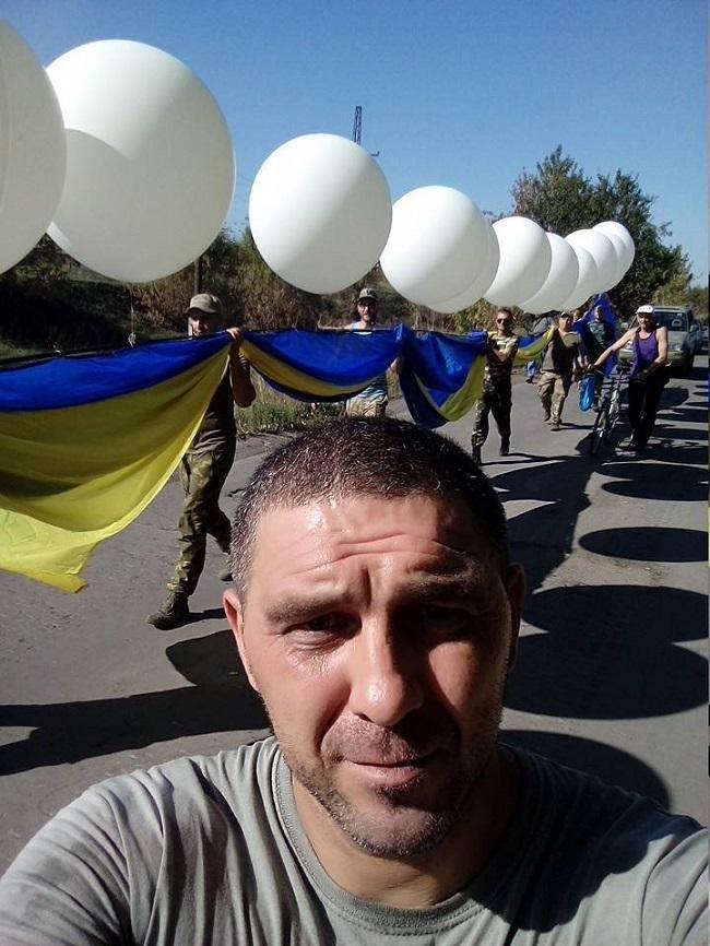 Огромный флаг Украины в небе над оккупированным Донецком (ФОТО, ВИДЕО), фото-1