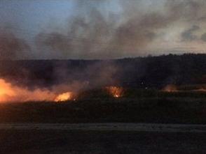 В Донецке горел поселок Кирша (ФОТО), фото-1