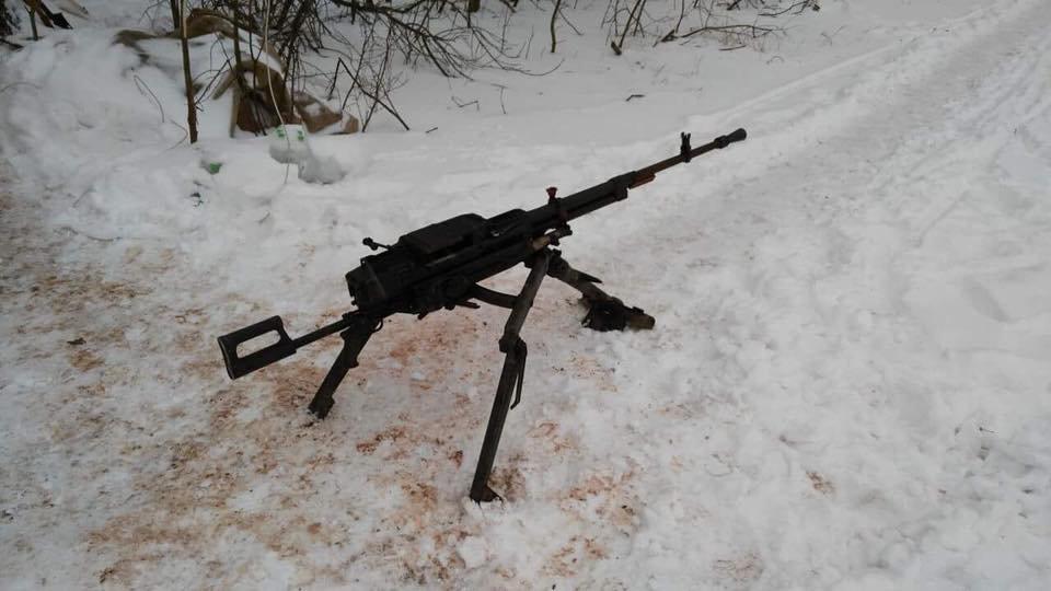 Воины ВСУ на Светлодарской дуге ликвидировали двух оккупантов и захватили пулемет (ФОТО), фото-1