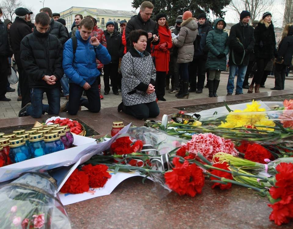 """23 февраля в Донецке 4 года назад: украинцы еще надеялись, но массовка для """"русской весны"""" уже была завезена (Фото), фото-8"""
