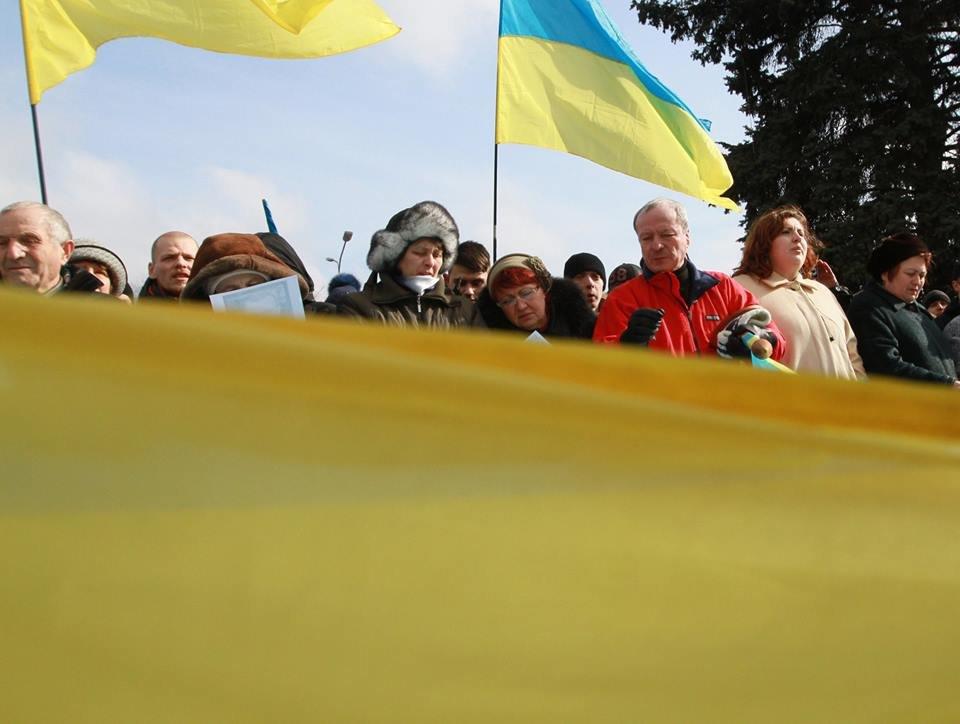 """23 февраля в Донецке 4 года назад: украинцы еще надеялись, но массовка для """"русской весны"""" уже была завезена (Фото), фото-6"""