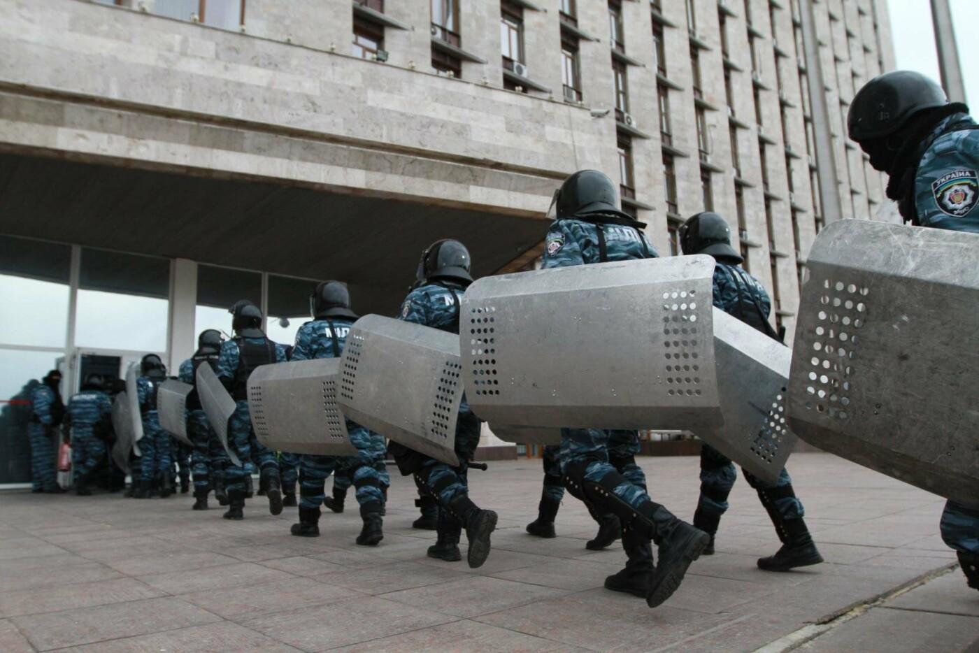 """23 февраля в Донецке 4 года назад: украинцы еще надеялись, но массовка для """"русской весны"""" уже была завезена (Фото), фото-17"""