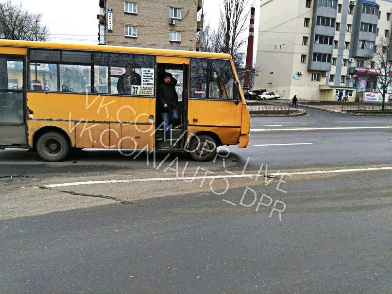 В центре Донецка маршрутка столкнулась с «Шевроле» (ФОТО), фото-1