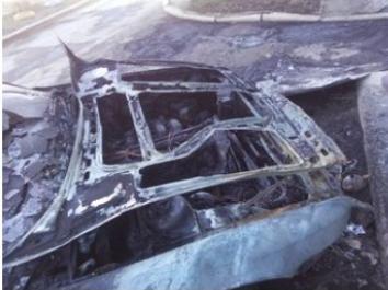 В Макеевке сожгли автомобиль (ФОТОФАКТ), фото-1