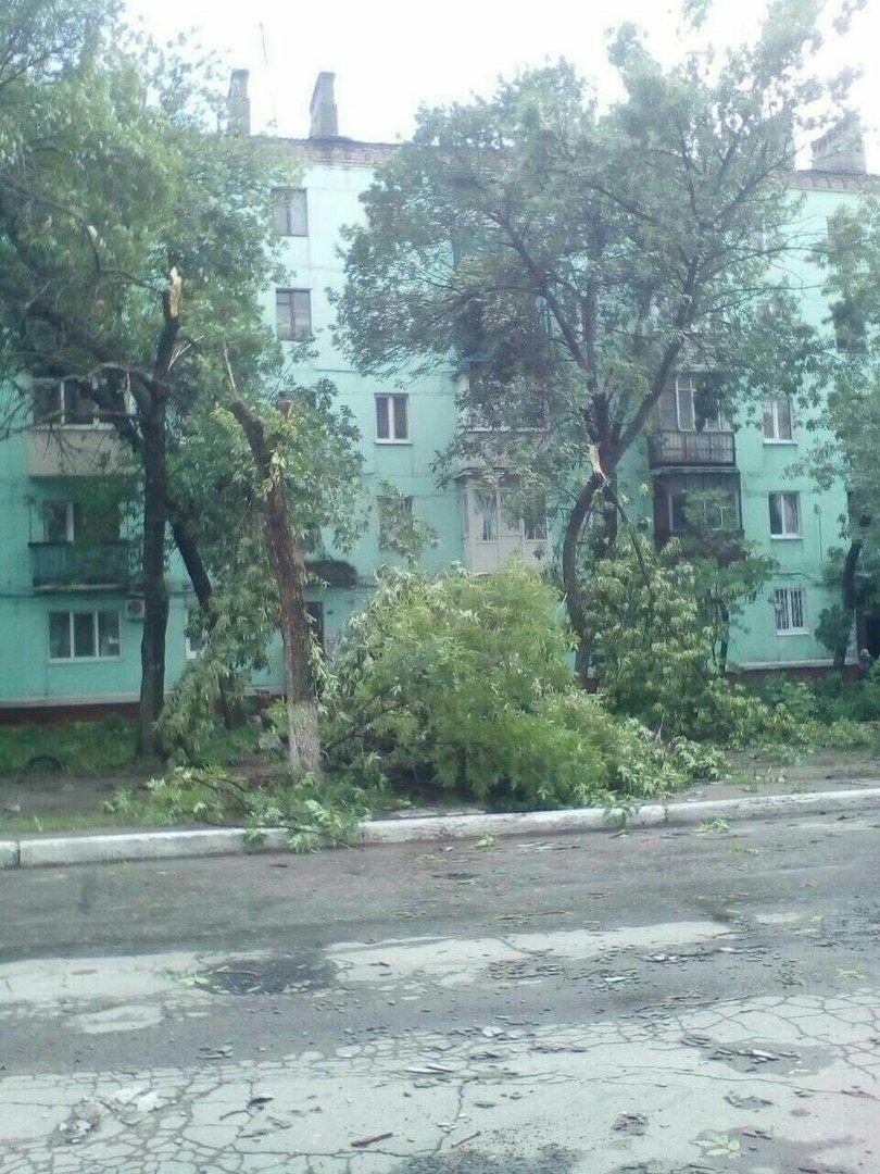 В оккупированной Горловке разбушевалась стихия: повалены деревья, снесены крыши (ФОТО), фото-5