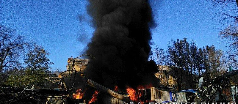 В центре Донецка пожар: Cнова горит здание бывшего дельфинария (Фото), фото-2