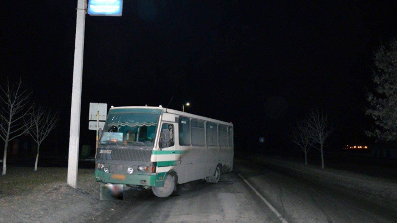 В Донецкой области под колесами автобуса погиб мужчина, - ФОТО, фото-1