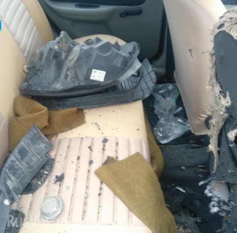В Макеевке взорвали автомобиль главаря боевиков «ДНР», - ФОТО, ВИДЕО , фото-2
