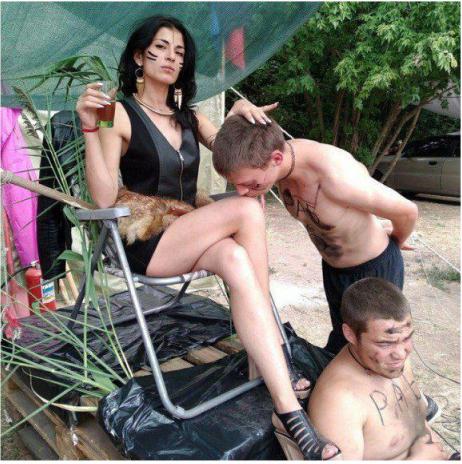 В ОРДЛО устроили молодежный фестиваль с амазонками, рабами, Берией и Сталиным, - ФОТО, фото-4