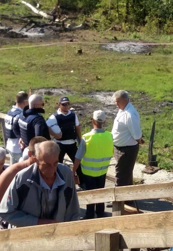В Станице Луганской  подготовили площадку для установки строительной техники у разрушенной части моста, - ФОТО, фото-4