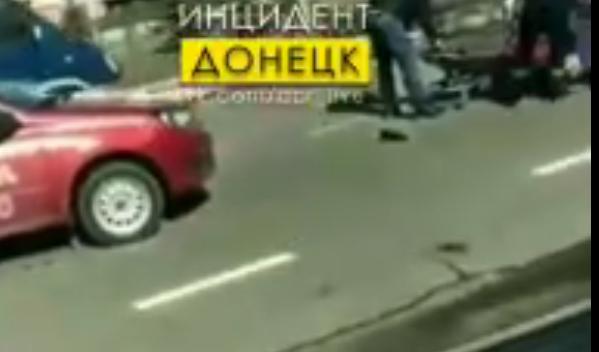 В Донецке на пешеходном переходе сбили мужчину, - ФОТО, фото-1
