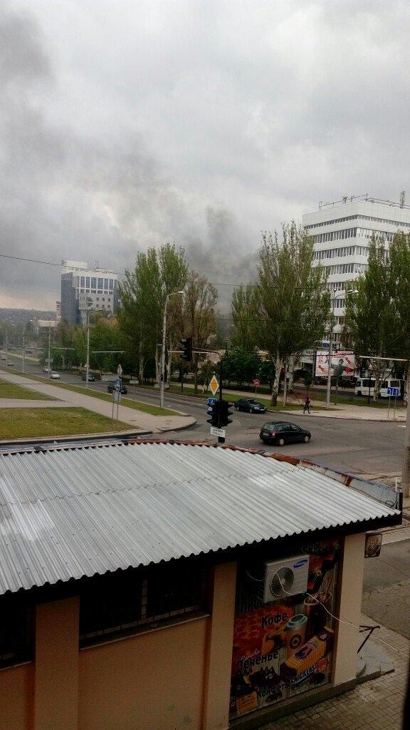 В центре Донецка взорвался автомобиль, - ФОТО, фото-1