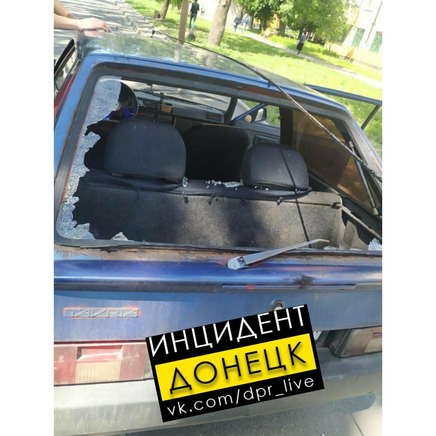 В Донецке упавшее дерево повредило три автомобиля и контактную сеть, - ФОТО, фото-2