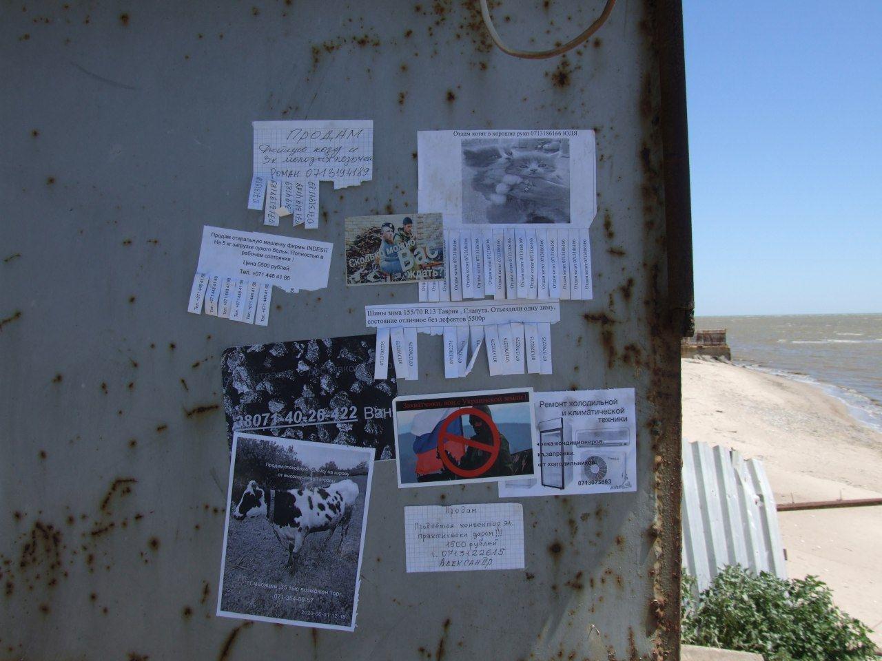 В «ДНР» расклеили листовки  с надписью «Захватчики, вон с Украинской земли!», - ФОТО, фото-1