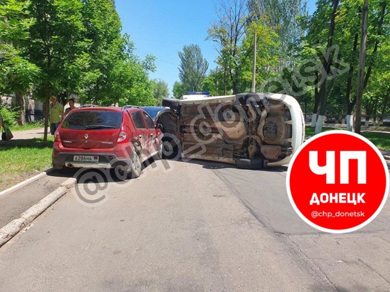В центре Донецка пьяный водитель устроил тройное ДТП, - ФОТО, фото-1