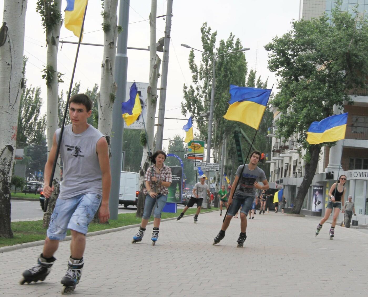 Этюд в сине-желтых тонах: как выглядел Донецк 15 июня 2012 года, - ФОТО, фото-1
