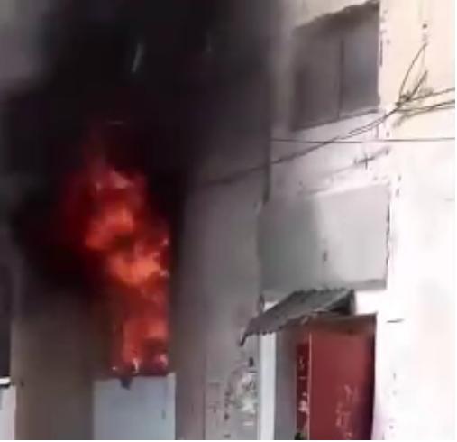 В Макеевке горит многоэтажный дом, - ФОТО, фото-1