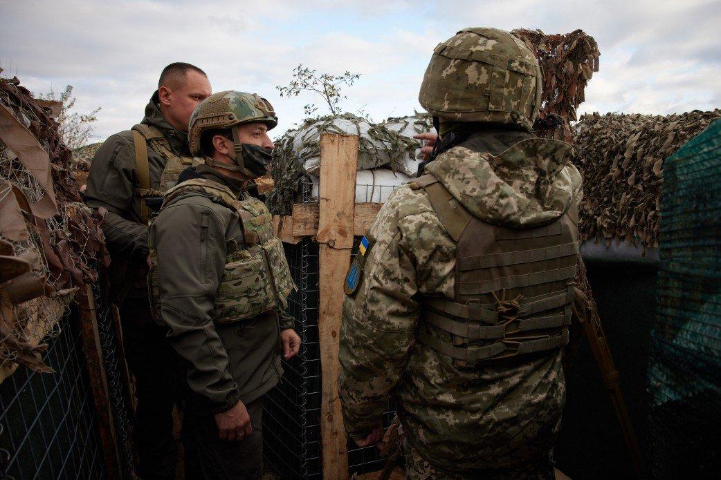 Зеленский посетил передовую ВСУ на Донбассе, - ФОТО, фото-3