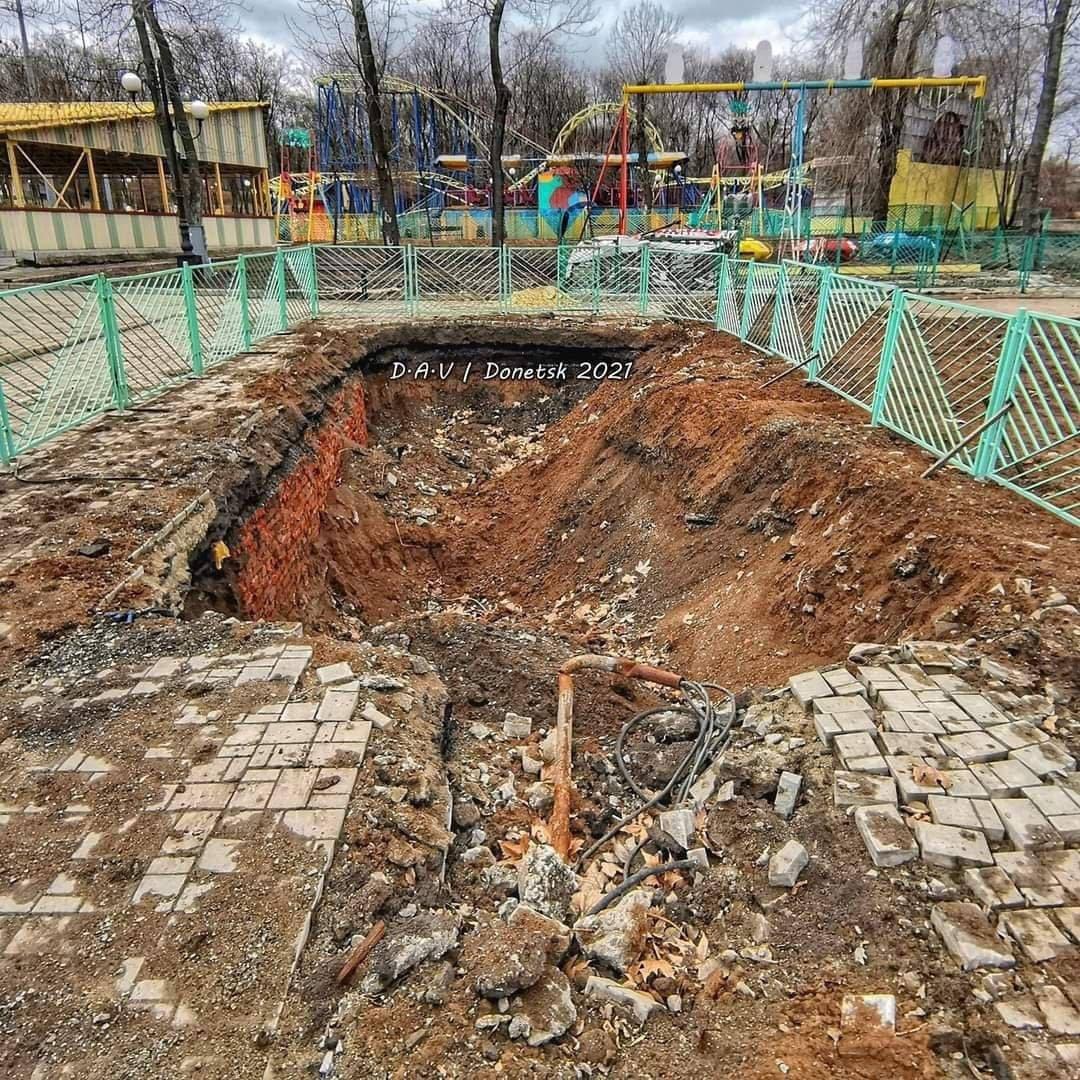В Донецке демонтировали Колесо обозрения, - ФОТО, фото-1