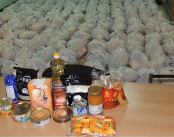 Под видом «гуманитарной» помощи от Пушилина в ОРДО выдали более двух тысяч продуктовых пакетов от МККК, фото-1