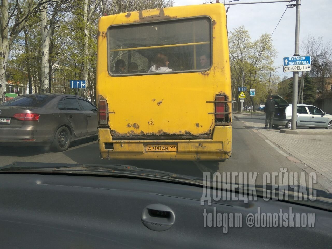 В оккупированном Донецке на ходу разваливаются маршрутки, - ФОТО, фото-1