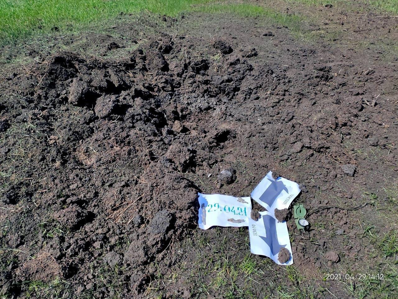 Оккупанты обстреляли населенный пункт у линии разграничения из 120-мм минометов, - ФОТО, фото-2