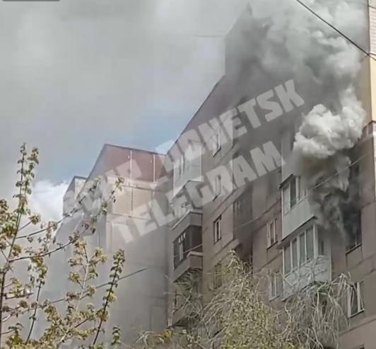 Сильный пожар в Донецке: один погибший, 11 пострадавших, фото-1