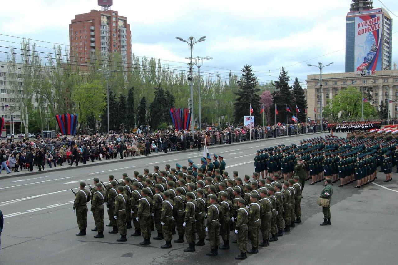 Оккупанты провели военный парад в Донецке, - ФОТО, фото-4