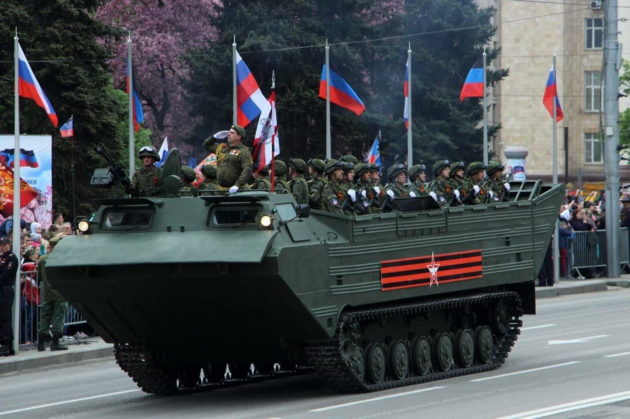 Оккупанты провели военный парад в Донецке, - ФОТО, фото-5