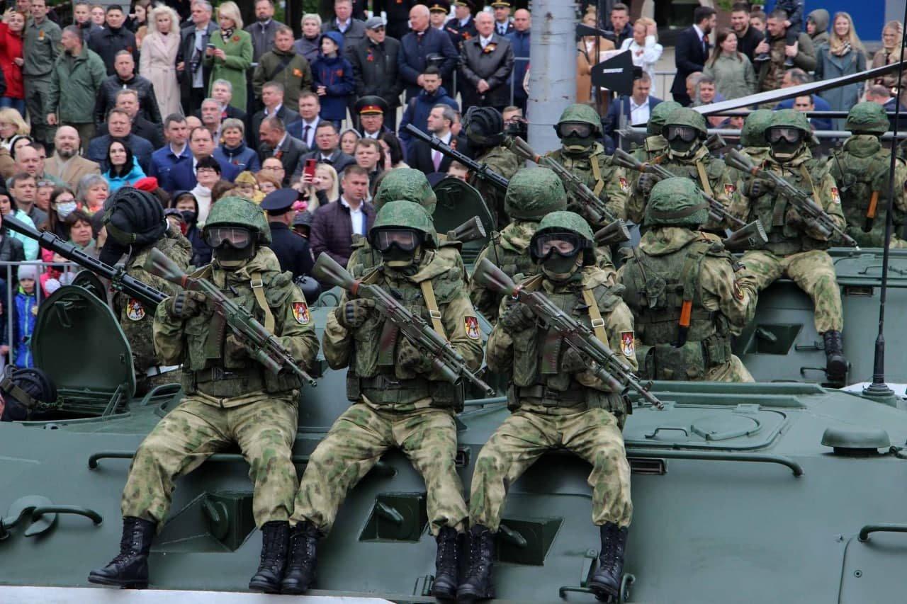 Оккупанты провели военный парад в Донецке, - ФОТО, фото-1