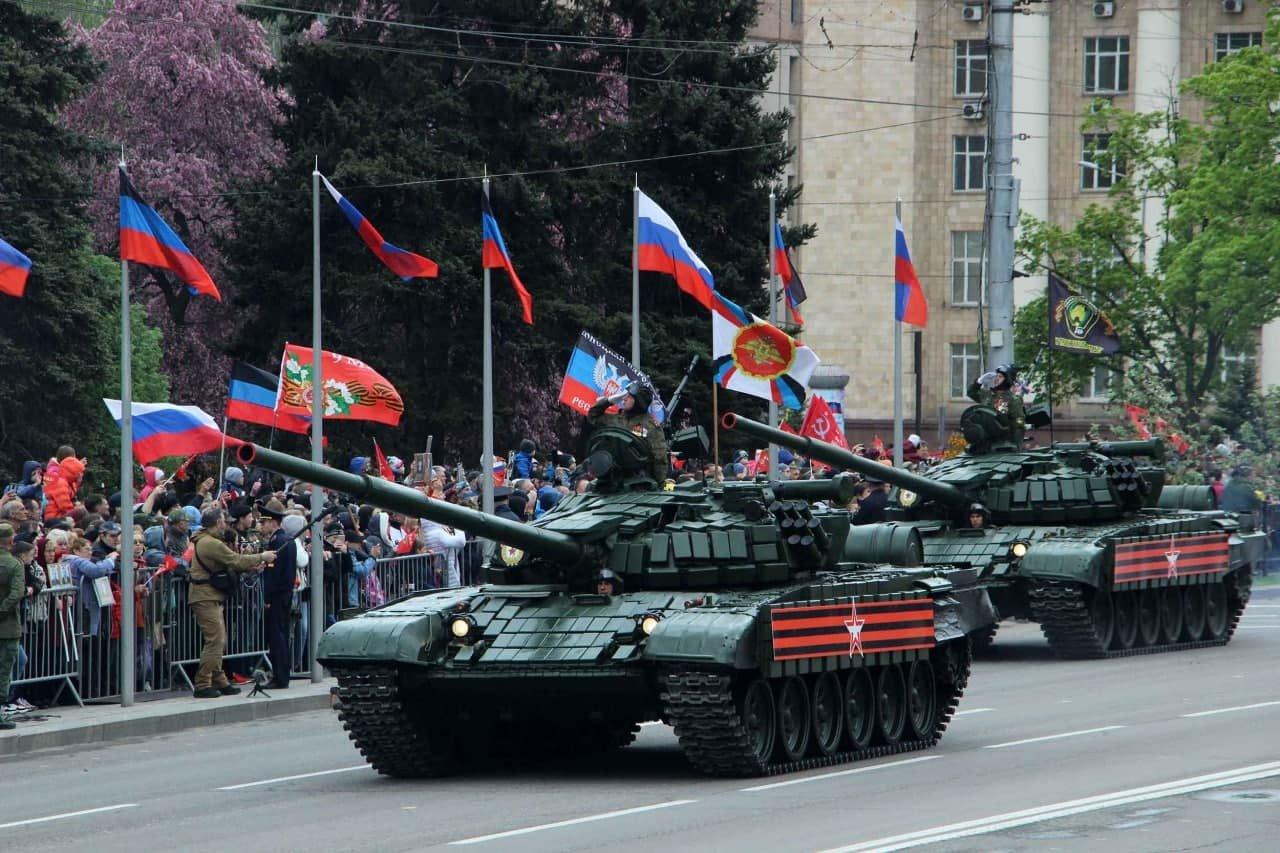Оккупанты провели военный парад в Донецке, - ФОТО, фото-6