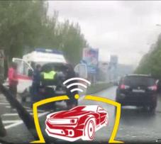 ДТП в Донецке: загорелся автомобиль «Скорой помощи», - ФОТО, фото-2