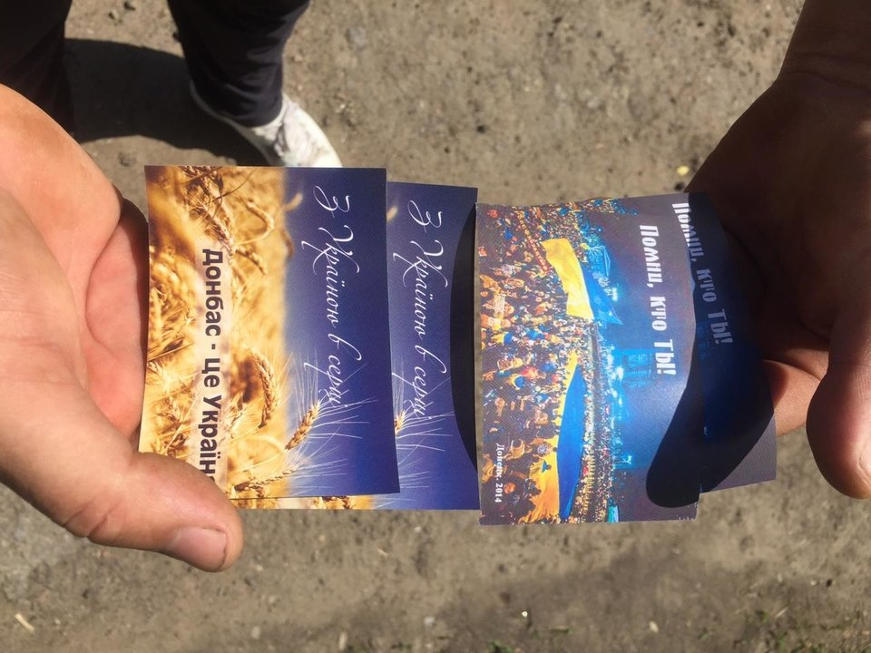 Волонтеры и военные отправили на воздушных шариках в Донецк тысячи листовок, - ФОТО, фото-3