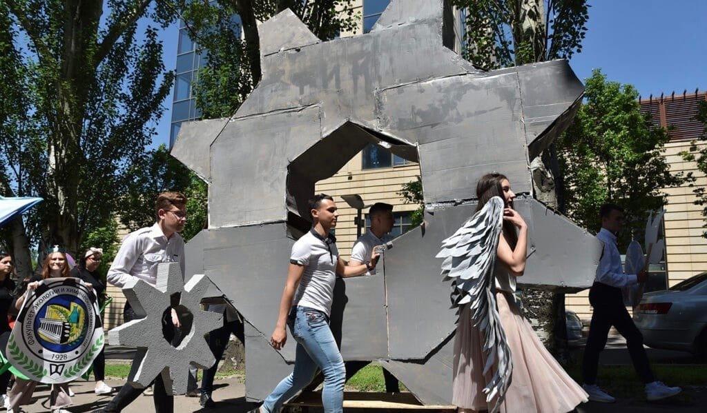 """""""Бедные дети"""": в оккупированном Донецке студенты """"покарнавалили"""", - ФОТО, фото-1"""