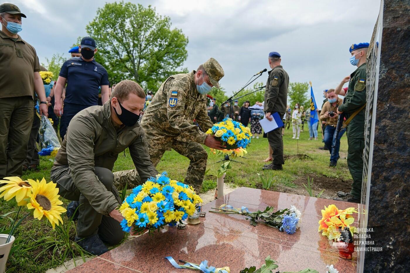В Донецкой области почтили память 12 погибших украинских воинов во главе с генералом Кульчицким, - ФОТО, фото-6
