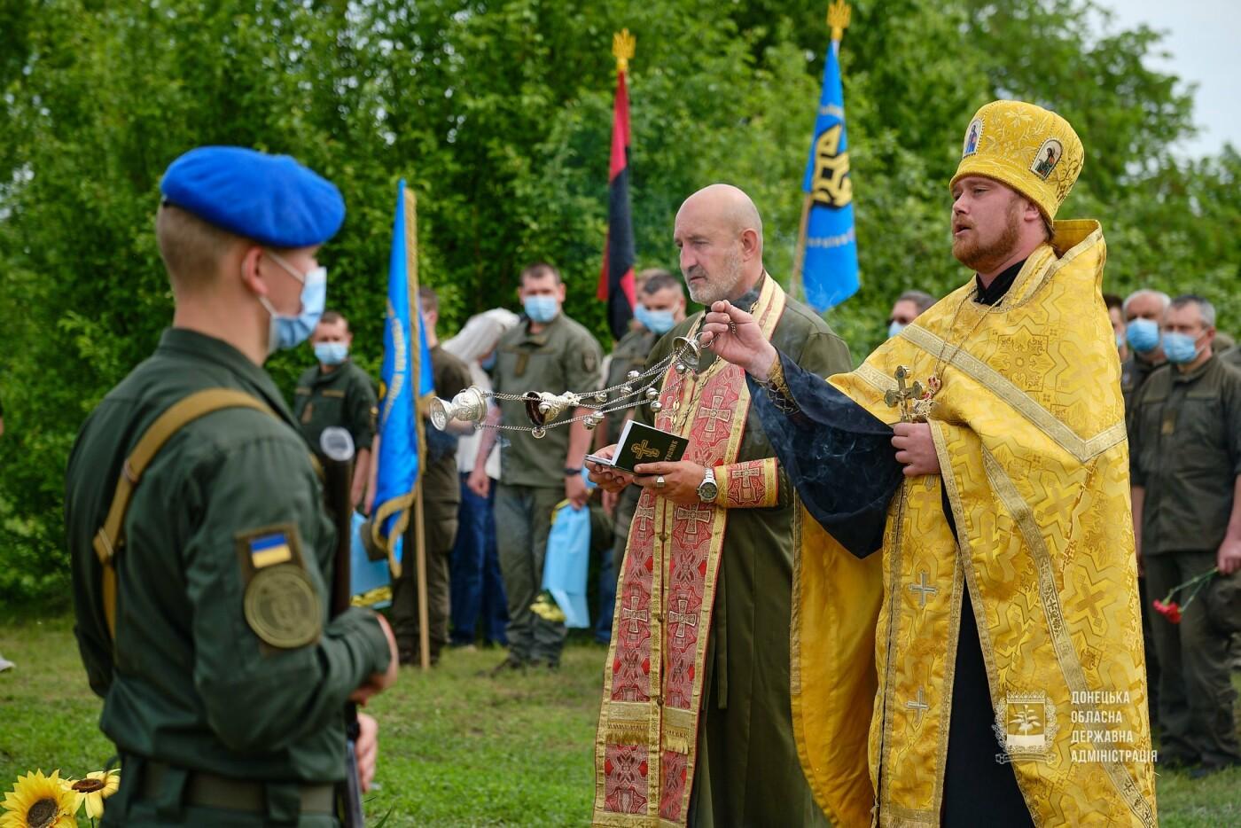 В Донецкой области почтили память 12 погибших украинских воинов во главе с генералом Кульчицким, - ФОТО, фото-5